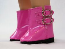 "Pink Buckle Rain Boots Fits Wellie Wishers 14.5"" American Girl Clothes Shoes"