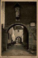 Zons am Rhein s/w Postkarte ~1925/30 gelaufen Durchblick durch das Stadttor