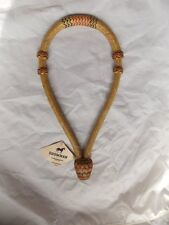 SHOWMAN Braided Rawhide Bosal for Mecate Headstall Bit Horse Tack
