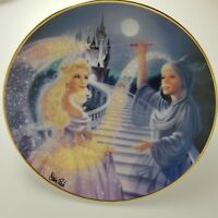 "Cinderella Disney Franklin Mint Plate 8 1/4"" Off To The Ball  HA3506 Ltd Edition"