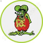 RAT FINK 11.75in ROUND METAL SIGN