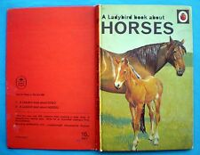 Horses vintage Ladybird book zebra donkey pony polo working racing equine 1968.