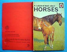 Horses vintage Ladybird book zebra donkey pony polo working racing equine 1968/