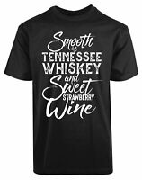 Smooth As Tennessee Whiskey And Sweet Strawberry Wine New Men's Shirt Cool Tees