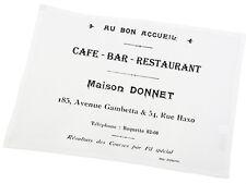 """Platzdeckchen, Untersetzer, Tischset,Weiß,""""Café Bar, Landhaus, Baumwolle"""