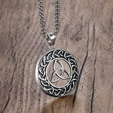 Keltischer Knoten Triquetra Kreis Charm Anhänger Choker Halskette