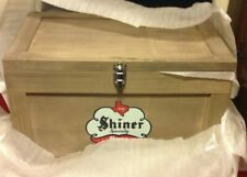 Rare Shiner Beer Brewery Wooden Bottle Can Ice Cooler Chest Box Tailgate Bock