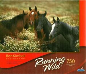 NEW 750 PC JIGSAW PUZZLE PLEASANT COMPANY RUNNING WILD HORSES SEALED MINT COND