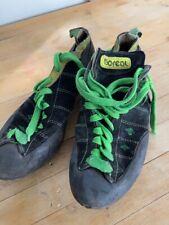 vintage rock climbing Boreal climbing shoes