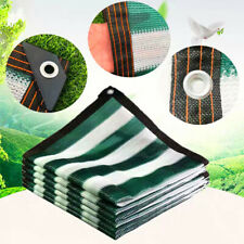 Customize 85% UV Dark Green & White Shade Cloth Taped Edge with Grommets