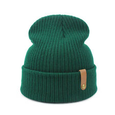 Winter Unisex Knitted Beanie Hat Winter Warm Hat Crochet Ski Slouchy Skull Cap
