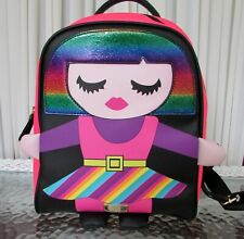 Luv Betsey Johnson Rainbow Backpack Small Neon Girl LBMINDY NWT