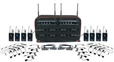 Vocopro MIB-QUAD-8B 8 CH UHF Hybrid Wireless Headset/Lapel Microphone BAG system