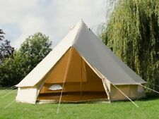4M Canvas Bell Tent With Detachable Floor 4 Season Glamping Tent Yurt for Family