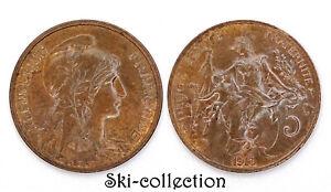 5 Centimes 1913. Dupuis. France. Bronze. Belle qualité et patine