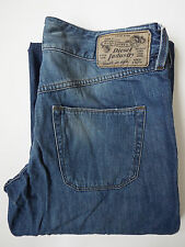 DIESEL WIRKY JEANS WOMENS RELAXED FIT FLARES W29 L34 WASH 008YE MID BLUE LEVH199