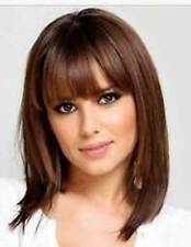 HELLOJF1288 new sexy medium brown straight health hair wig wigs for women