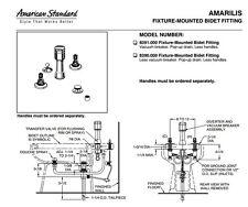 American Standard Amarilis 8391.000.297 Satin/Brass Mixage Fixture-Mounted Bidet