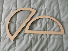 1 x Coppia di MANIGLIE borsa in legno-Craft-con le istruzioni per effettuare Borsa-Lavoro a Maglia