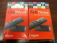 Two Amazon Fire TV Stick HD 2019 w/Alexa Voice Remote 2x Lot $44.50 EACH!!!