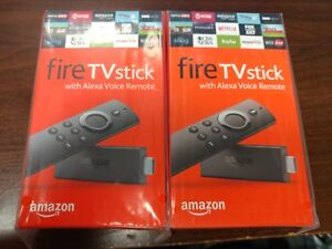 Two Amazon Fire TV Stick HD 2019 w/Alexa Voice Remote 2x Lot