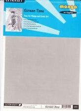 Letraset Screen-Tone MT3 MANGA Art Supplies Single Sheet (1x)