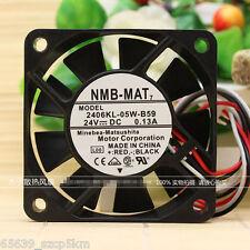 NMB-MAT 2406KL-05W-B59  60x60x15mm 6cm 24V 0.13A Cooling Fan