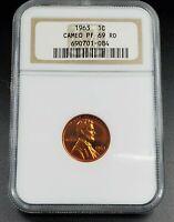 1963 P Lincoln Memorial Cent Penny Coin NGC PF69 CAMEO Gem Philadelphia Proof
