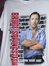 Bruce Springsteen E-Street Band stadium tour 2003 tshirt & Stringbean pin button