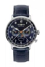 Zeppelin 7036-3 Armbanduhr Herren Quarzuhr Fliegeruhr Mondphase, Kalenderwoche