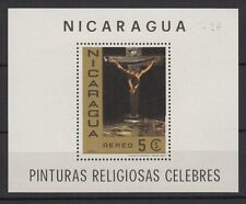 Nicaragua feuillet neuf aérien 1968 Christ de St Jean Salvador Dali /T957