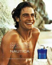 Publicité Advertising  2001  Latitude Longitue parfum homme Nautica