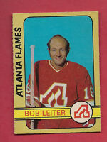 1972-73 OPC # 218 FLAMES BOB LEITER  HIGH # EX-MT CARD