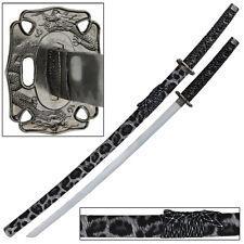 Snow Leopard Japanese Samurai Katana Sword