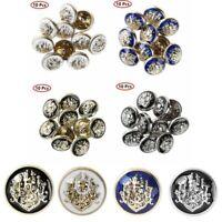 1cm Lion Head Metal Shank Decor Sewing Button Buckle Replacement for Tuxedo Suit