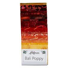 """Bali Poppy Fabric - Hoffman Batik Lava - (20) 2.5"""" Jelly Roll Strips"""