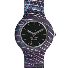 Reloj Unisex HIP HOP BACK TO THE 90'S HWU0899 Silicona Negro Small 32mm NEW