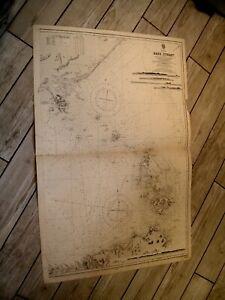 Vintage Admiralty Chart 1695A  AUSTRALIA - BASS STRAIT 1921 edn