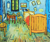 Van Gogh Bedroom In France Home Repro Still Life 20X24 Oil Painting STRETCHED