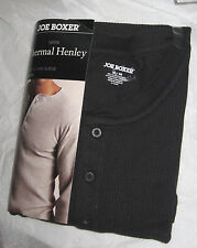 NWT~Men's JOE BOXER Button Long Sleeve Henley Thermal Top Shirt~L~Charcoal Gray