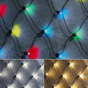Noma Outdoor Christmas LED Battery Net Fit & Forget String Wire Timer Lights
