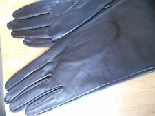 Brown Kid Leather Gloves with Silk Lining, Ada Castellani, Rome, Wrist, S, MINT