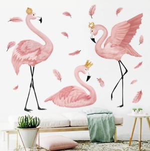 Wall Stickers Flamingo Removable Decor Kids Nursery Baby DIY Gift