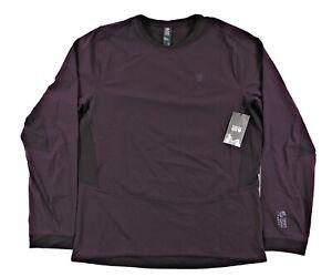 Mountain Hardwear Chockstone Hybrid Crew Shirt Mens Nylon Stretch Hiking Purple