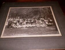 Old Antique Vintage CDV Photograph Grandma Neese 1910 Reunion Large Group People