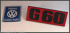 VW MK2 Golf G60 - Genuine OEM - Front G60 Grille Badge - BRAND NEW STOCK!!