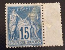 France N° 90a 15c Bleu Sur Bleu Neuf ** Mais Défectueux Beau Côté 675€