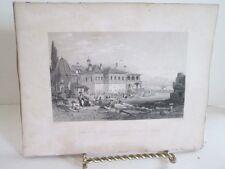 Vintage Print,TOMB ALI PACHA+FATIMA,Fishers,Constantinople,Allom,c1860