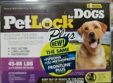 ( 3 Packs -9 mo) PetLock Plus For Dogs 45 To 88 Lbs Kill Flea Egg Larvae & Lice