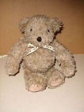 THE SUMMIT COLLECTION 1993 BROWN SHAGGY HAIR TEDDY BEAR STUFFED PLUSH 12''